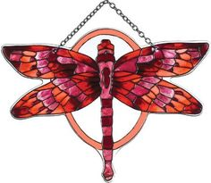 Joan Baker Designs SSD1022 Red/Terracotta Butterfly Art Glass Suncatcher by Joan Baker Designs. $21.00. Water-cut fired glass. Vivid translucent color for window display. Chain included for convenient hanging in a window. Hand-painted. Butterflies are nature's mini masterpieces  Our hand-painted water-cut Suncatchers show them off in all their glorious variety of patterns and colors    For more than 40 years, Joan Baker Designs' talented artisans have created stunn...