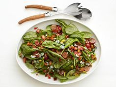 Warm Spinach Salad Recipe : Food Network Kitchens : Recipes : Food Network