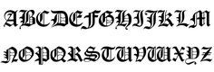 DEATH NOTE FONT. For letter B