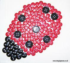 Lady Bug Button Art