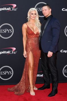 Simone Biles wins gold for best beauty look at this year's ESPY Awards Espy Awards, Awards 2017, The Miz And Maryse, Maryse Ouellet, Wwe Couples, Dodgers Baseball, Wrestling Divas, Professional Wrestling, Wwe Divas
