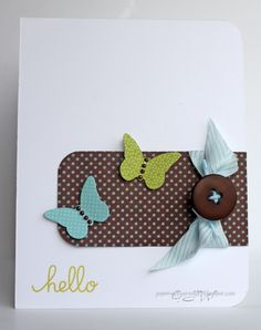 Glenda's Papers, Scissors & Rocks: Great news! Cool Cards, Diy Cards, Quick Cards, Card Making Inspiration, Making Ideas, Butterfly Cards, Simple Butterfly, Card Sketches, Paper Cards
