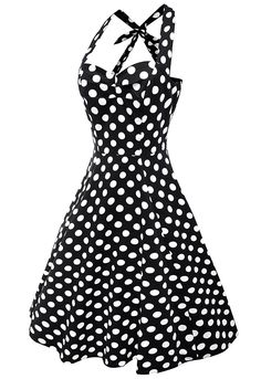 Anni Coco Women's Halter Polka Dots 1950s Vintage Swing Tea Dresses Multi Colored at Amazon Women's Clothing store:  https://www.amazon.com/gp/product/B01IP2ZX24/ref=as_li_qf_sp_asin_il_tl?ie=UTF8&tag=rockaclothsto-20&camp=1789&creative=9325&linkCode=as2&creativeASIN=B01DZVY416&linkId=d1e14a1bcc1135ff2f48dc0c157b51e4&th=1