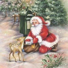 Santas Meeting At Th By Dbk-Art Licensing Framed Art - Multi Diy Christmas Garland, Pallet Christmas, Christmas Table Decorations, Christmas Door, Christmas Crafts, Burlap Christmas, Christmas Time, Christmas Paintings, Christmas Pictures