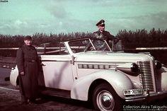 "* Generalleutnant Hermann-Meyer Rabingen * The car: US made ""Buick Special Serie 60(1938), Model 66C 4 Passenger Convertible Coupé.  License Plate: ""WH (Wehrmacht Heer) 707165"". # World War II #"