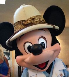 Mickey Mouse at the Tusker House Restaurant in Disney's Animal Kingdom park at Disney World. This restaurant now has classic Disney characters at breakfast, lunch, and dinner! disney animal kingdom #disney