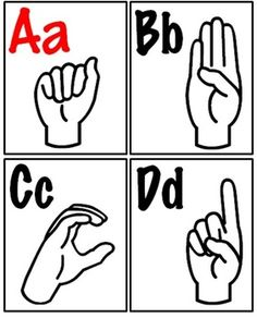 Printable Sign Language Poster  Sign Language Alphabet Signs And
