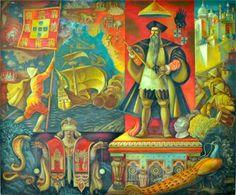 AFONSO DE ALBUQUERQUE (1964) - Jaime Martins Barata (1899-1970). Fresco (4,00 m x 4,75 m). Palácio de Justiça de Vila Franca de Xira.