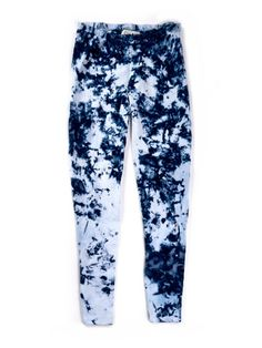 indigo particle leggings in cotton/spandex blend are available on the shop!