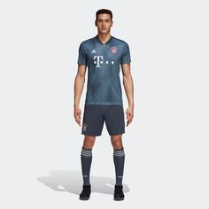 5c16db9a71d 18-19 Bayern Munich Third Away Navy Jersey Shirt