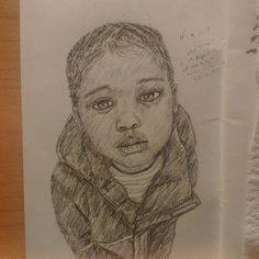 """#instaart #drawing #pencil #sketchbook #youngblackartists #blackart #portrait #child #illustration"""