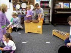 """Pass the Pumpkin with Orff. Change """"minor sound"""" to """"spooky sound"""" Also exchange orff with D and A boomwackers + gong"""