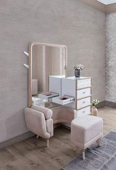 Simple Dressing Table Display Inspiration in The Bedroom Simple Bedroom Design, Bedroom False Ceiling Design, Luxury Bedroom Design, Bedroom Closet Design, Bedroom Furniture Design, Home Room Design, Home Design Decor, Interior Design Living Room, Modern Furniture