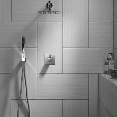 Large White Tiles Grey Grout Bathroom White Bathroom Tiles Large Bathroom Floor Tiles Grey And White Bathroom Floor Tiles High Gloss Floor White Bathroom Tiles Large Tile Bathroom, Ceramic Tile Bathrooms, Large Bathrooms, Bathroom Floor Tiles, Bathroom Wall, Bathroom Interior, Comfort Room Tiles Small Bathrooms, Large Tile Shower, White Bathrooms