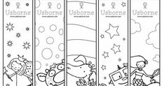 Free coloring bookmarks for kids from Usborne Colouring Pages, Adult Coloring Pages, Coloring Sheets, Coloring Books, Free Coloring, Pages Doodle, Doodle Books, Free Printable Bookmarks, Bookmarks Kids