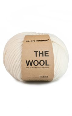 100% wool yarn ball natural | WE ARE KNITTERS