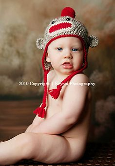 Sock Monkey hat I'm making for Liberty. And Wyatt.  And their new baby cousin.