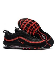 buy online a6f8a 7df3f Nike Air Max 97 Kpu Tpu Shoes Black Red Trainer Nike Air Max Trainers, Red