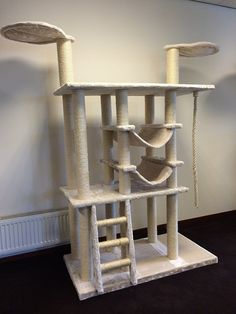 Cat Tree Cat Temple Relax Cream White cat scratcher scratching post activity centre for large cats. European Quality production from RHRQuality ** Check out this great article.
