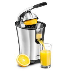 Gourmia Electric Citrus Juicer Stainless Steel 10 QT 160 Watts Rubber Handle And Cone Lid For Easy Use One-Size-Fits-All Juice Cone For Easy Storage. ETL CERTIFIED: We, at Gourmia, take the quality of our products seriously. Small Kitchen Appliances, Kitchen Gadgets, Cool Kitchens, Kitchen Small, Kitchen Tools, Best Juicer, Citrus Juicer, Juicer Reviews, Shopping