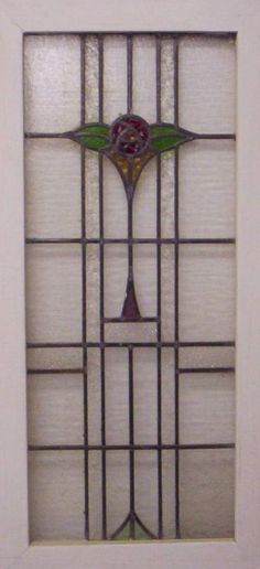 ENGLISH LEADED STAINED GLASS WINDOW