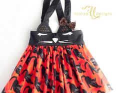 Fox Suspender Skirt  Boho Baby  Fox skirt  by lisalisaDesigns