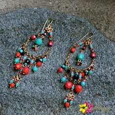 """Shop our """"ADELINA Earrings"""" perfect for your casual attire or pool party accessories for only $22. Enter """"FREESHIPPING"""" for orders $25 and above when you checkout from our online store!#Earrings #GypsyJewel #Boho #TribalJewelry #Bohemian #Beads #Beachwear #Hippie #HippieStyle #Vintage  #Gold #Passion #FestivalLook #BeachWear #LuvGypsy #Wildheart #Treasures #TreasureHunt #Tibet #Tibetan #TibetanCoral #Turquoise #StatementJewelry #Jewelry #IndianJewelry #Accessories  #GypsyEarrings…"""