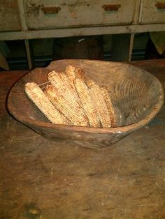 Note: Shelled corn cobs can be placed in a basket by the fire for kindline Log Cabin Country Primitives
