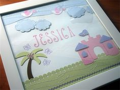 Princess Castle Personalised Wall Hanging