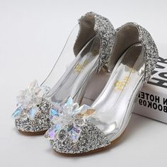 Girl's Closed Toe Leatherette Sparkling Glitter Low Heel Pumps Flower Girl Shoes With Rhinestone Flower Girl Shoes, Girls Dress Shoes, Little Girl Shoes, Girls Heels, Kid Shoes, Shoes For Kids, Low Heels, Pumps Heels, Stiletto Heels
