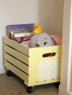 Diy Toy Storage, Crate Storage, Kids Storage, Rolling Storage, Storage Ideas, Storage Solutions, Clothes Storage, Storage Bins, Diy Clothes