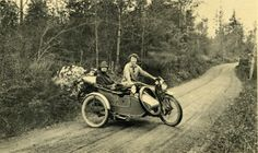 2 Ladies on Harley with Sidecar