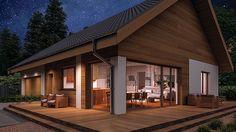 Projekt domu Murator C333u Miarodajny - wariant XVIII 99,20 m² - koszt budowy - EXTRADOM 20 M2, Design Case, Mansions, House Styles, Outdoor Decor, Home Decor, Houses, Projects, Decoration Home