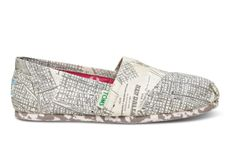 Natural TOMS x Make It Right Women's Make It Right Women's Canvas Classics - map of NewOrleans