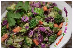 chopped broccoli salad-tons of delicious, whole food recipes on this blog!