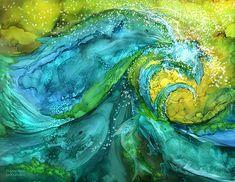 Dolphin Waves Print by Carol Cavalaris