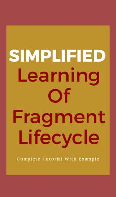 In Android, Fragments have their own life cycle very similar to an Activity but it has extra events that are particular to the Fragment's view hierarchy, state and attachment to its activity.