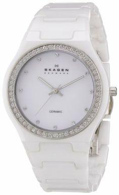Skagen Women's 813LXWC Ceramic White Ceramic Crystal Watch Skagen. $112.48. Ceramic case. Water-resistant to 30 m (100 feet). Quartz movement. White ceramic bracelet. White dial