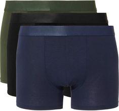 J Crew Stretch Woven Boxer Shorts Underwear Green Stripe Sizes M-L-XL