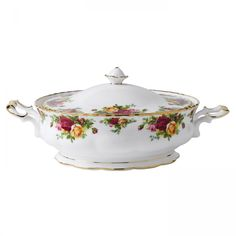 Old Country Roses Covered Vegetable Bowl