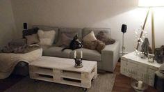 Couchtische - Couchtisch 7 Chabby-Chic,Lowboard aus Europaletten - ein Designerstück von atelier-schatztruhe bei DaWanda