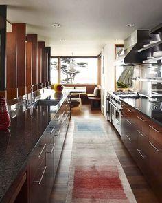 Kitchen, Carmel Residence, California by Dirk Denison Architects