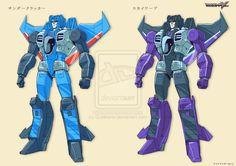 TF Victory Thundercracker + Skywarp by *GuidoGuidi on deviantART - Transformers Decepticon Seekers Victory Style