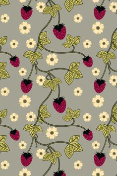 """""""Yummy Berry"""" by bmarchelle. To have a colourlovers pattern printed on fabric, go to www.colourlovers...."""