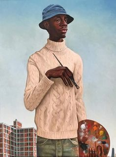 L' Artiste Monsuier Dynomite by Kadir Nelson Black Love Art, Black Girl Art, Cartoon Kunst, Cartoon Art, Cartoon Faces, African American Artist, African Art, Caricatures, Dope Kunst