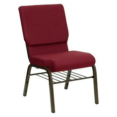 Hercules Series 18.5 in. Wide Chair with 4.25-inch thick Seat - Burgundy