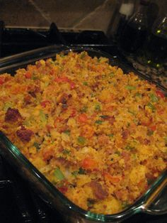 Hey Good Lookin' Whatcha Got Cookin': Crawfish and Sausage Cornbread Dressing