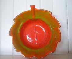 Vintage Orange Red Green California Leaf Dip by DocsCollectables, $8.00