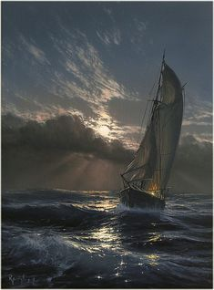 Marine Art by Marek Ruzyk Magnificent Hyperrealistic Oil Paintings Capture the Glory of Ships at Sea