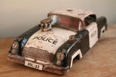 Vintage French 1960s Joustra Toy Police Car  Made by GaloreGalore, €42.00